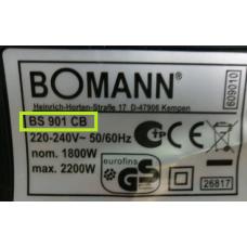 Bomann prietaiso detalė (kiti atvejai)